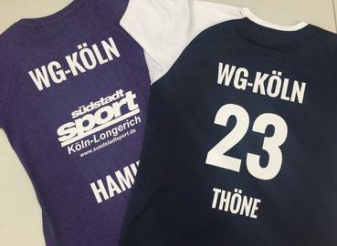 Textildruck bei Südstadtsport Köln
